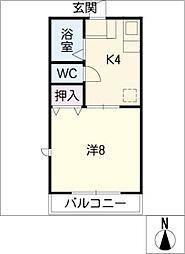 サウサリート[2階]の間取り