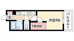 愛知県名古屋市昭和区山脇町1丁目の賃貸マンションの間取り