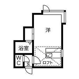 リバーサイド澄川[3階]の間取り