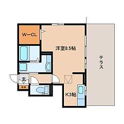 JR東海道本線 静岡駅 バス28分 大谷小学校前下車 徒歩6分の賃貸アパート 1階1Kの間取り