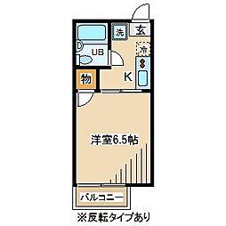 東京都府中市新町2丁目の賃貸アパートの間取り