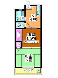 栄コーポ[305号室]の間取り