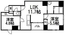 東十字街マンション[2階]の間取り