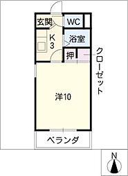 第6ハイツ・タマキ[1階]の間取り