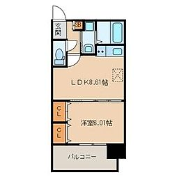 グラディート吉塚駅東[0805号室]の間取り