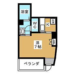 モデラート勝村[2階]の間取り