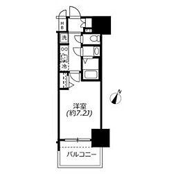 アドバンス名古屋モクシー 11階1Kの間取り