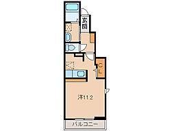 和歌山県和歌山市松江中1丁目の賃貸アパートの間取り