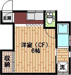 東京都墨田区墨田4の賃貸アパートの間取り