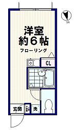 東京都中野区弥生町3丁目の賃貸マンションの間取り