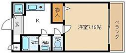 ペアーコート泉佐野B棟[2階]の間取り