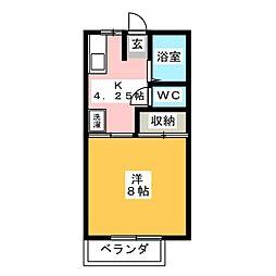 マ・メゾン B棟[2階]の間取り