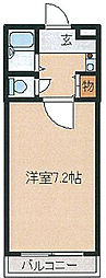 アドバンス坂田[202号室]の間取り