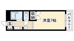 愛知県名古屋市昭和区石仏町1丁目の賃貸マンションの間取り