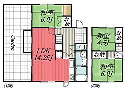 [一戸建] 千葉県千葉市若葉区若松台1丁目 の賃貸【/】の間取り
