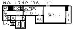 フェアリー阿倍野[2階]の間取り