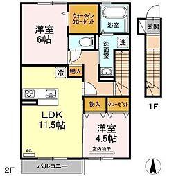D−room南吉田(仮)[A202 号室号室]の間取り