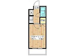 リエス中野島[2階]の間取り