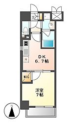 MX−1 エムエックスワン[9階]の間取り