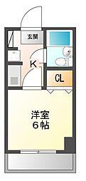 クワァードラングル[1階]の間取り