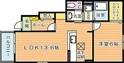ラメゾンカルム[1階]の間取り