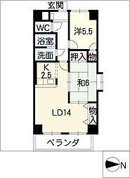 松重スカイマンション3[2階]の間取り