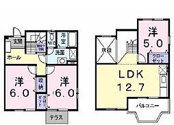 [テラスハウス] 神奈川県横浜市都筑区二の丸 の賃貸【神奈川県 / 横浜市都筑区】の間取り