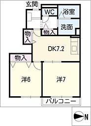 サンオーク[1階]の間取り