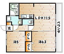 T-FLAT58[5階]の間取り