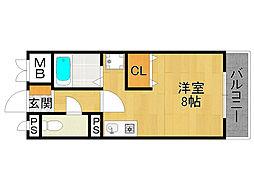 エクシード武庫之荘2[6階]の間取り