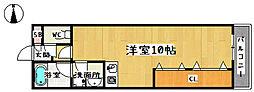京都府京都市山科区東野門口町の賃貸マンションの間取り