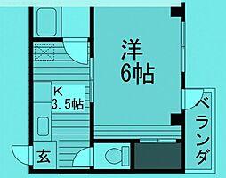 東京都文京区湯島の賃貸マンションの間取り