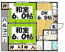 福岡県春日市大字下白水の賃貸アパートの間取り