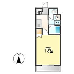 ヨコタビル・リアル[4B号室]の間取り