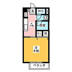 レスパスドルポⅢ[2階]の間取り