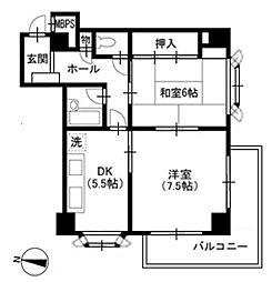 メゾンクレール[7階]の間取り