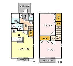 セトルセブン[1階]の間取り