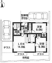 [一戸建] 大阪府堺市中区深井清水町 の賃貸【/】の間取り
