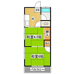 深田コーポ[203号室]の間取り