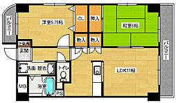 第1柴田マンション[4階]の間取り