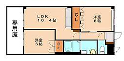 福岡県飯塚市長尾の賃貸アパートの間取り