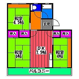 山文ビル[3階]の間取り