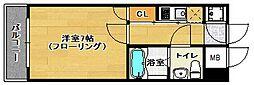 福岡県福岡市城南区鳥飼5丁目の賃貸マンションの間取り