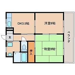 静岡県静岡市清水区蜂ケ谷南町の賃貸マンションの間取り