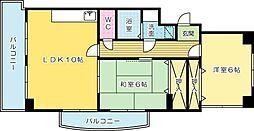 クラブハウス熊本[203号室]の間取り