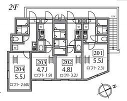 コンフォルタ桜台[201号室]の間取り