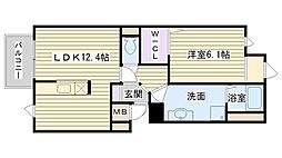 メゾンドファミーユ鶴見緑地公園II-B[105号室]の間取り
