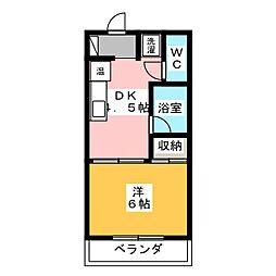 ルイシャトレ社台[2階]の間取り