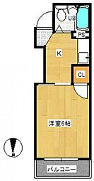 シュペルノーヴァ[3階]の間取り