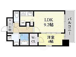 コンフォリア江坂広芝町 7階1LDKの間取り